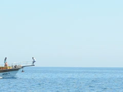 Stock Video Footage of Rostrum in the sea. Related clips are in my portfolio in 1920x1080.