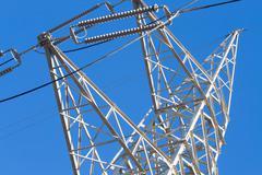 particular of a pylon - stock photo