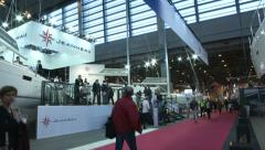 People attend Paris International Boat Show  - stock footage