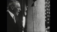 President Woodrow Wilson addressing during draft and mobilization activity Stock Footage