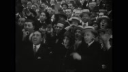 Crowd cheering during draft and mobilization activity Stock Footage