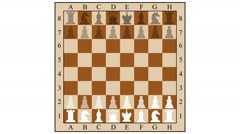Chess combination mate in three moves. children mat. gambit. 2d animation. Stock Footage
