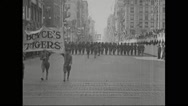 Parade in New York City Stock Footage