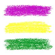 Vector mardi gras pastel crayon brush strokes Stock Illustration