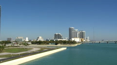 MacArthur Causeway bridge in Miami Stock Footage