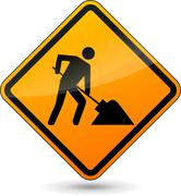 Construction sign Stock Illustration