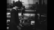 Woman working in factory Stock Footage
