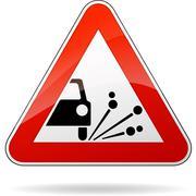 gravel sign - stock illustration