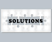 Solutions jigsaw puzzle Stock Illustration