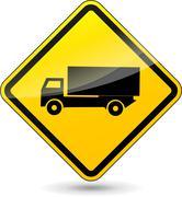 truck sign - stock illustration