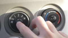 Car Ventilation Control Air-Condition HD Stock Footage
