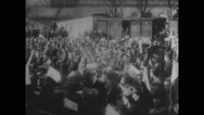 Czecho-Slovak troops cheering while returning from Italian Army Stock Footage