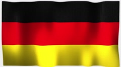 4K 3D Animation of German Germany Whole Flag Canvas Texture Stock Footage