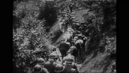 Italian infantry and cavalry troops marching Stock Footage