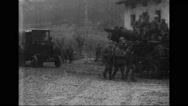 Artillery and weaponry being moved towards front lines Stock Footage
