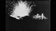 View of bombing at night Stock Footage