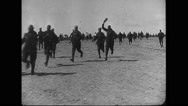 Military soldiers running Stock Footage