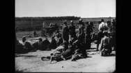 Soldiers sitting and relaxing Stock Footage