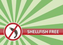 Shellfish Free Banner Stock Illustration