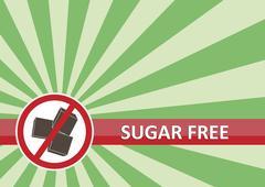 Sugar Free Banner Stock Illustration