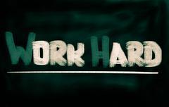 work hard concept - stock illustration