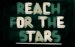 Reach for the stars concept Stock Illustration