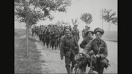 Military soldiers marching Stock Footage