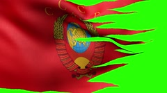 Coat of arms of the USSR, the banner alpha Stock Footage