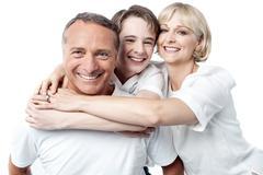 Stock Photo of Happy family on white background