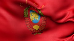 Coat of arms of the USSR, the banner Stock Footage