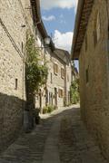 narrow streets of cortona, tuscany, italy - stock photo