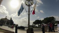 Malta valetta  flag timelapse - stock footage
