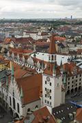 zodiac clock tower, munich. - stock photo