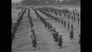Military performing drill at Camp Wheeler Stock Footage