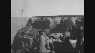 Ferdinand Foch visiting Grand Canyon Stock Footage