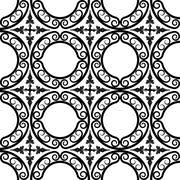 Wrought iron pattern Stock Illustration