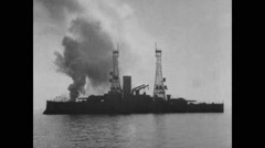 View of USS battleship Alabama Free Stock Footage