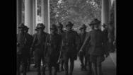 Italian Alpine troops entering White House Stock Footage