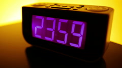 Countdown To Midnight Stock Footage
