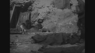 Dead bodies of military soldiers Stock Footage