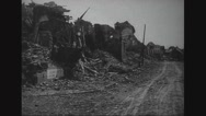View of aftermath of war Stock Footage