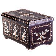 romanian wooden chest - stock photo