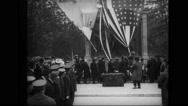 Joffre unveiling Lafayette Memorial in Brooklyn Stock Footage