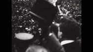 Vaclav Klofac addressing Czechoslovakian people Stock Footage
