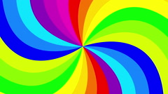 Colorful background rainbow  that  rotating spiral. 2d animation. Stock Footage