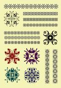 Collection of ornamental rule lines in different design styles Stock Illustration