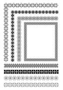 collection of ornamental rule lines in different design styles eps10 vector - stock illustration
