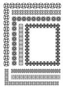 collection of ornamental rule lines in different design styles eps10 vector i - stock illustration