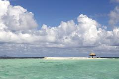 Tropical beach in Carribean Stock Photos