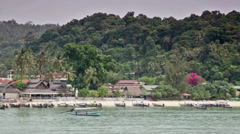 Tour on  boat on  ocean along the coast of the island of Phi-Phi  in Thailand Stock Footage